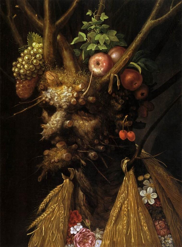 Guiseppe Arcimboldo, Les 4 saisons en une tête, huile sur bois, vers 1590 (WGA)
