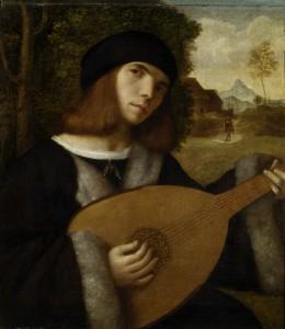 Giovanni Cariani, Le joueur de luth, vers 1515, Musée des Beaux-Arts de Strasbourg.