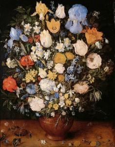 Jan Brueghel, Bouquet de fleurs, 1599, Kunsthistorisches Museum, Vienna.