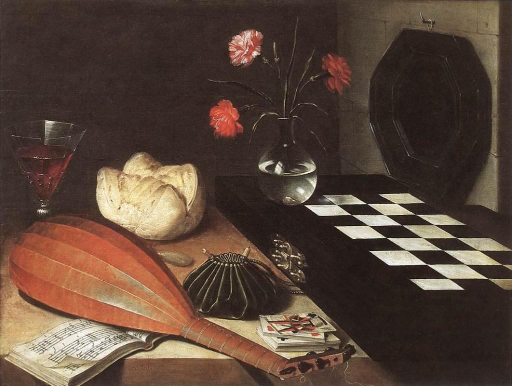 Lubin BAUGIN Nature morte aux échecs (Les 5 sens), 1630 Musée du Louvre, Paris