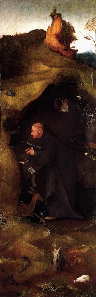 BOSCH, Hieronymus Hermit Triptyque des saints, (détail) c. 1505 Huile, Palazzo Ducale, Venice (source : WGA)
