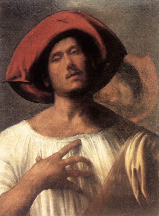 GIORGIONE Le chanteur, c. 1510 Galleria Borghese, Rome (source : WGA)