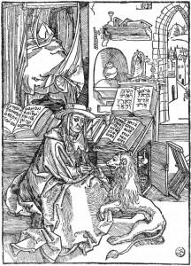 Albrecht Dürer, Saint Jérôme, gravure sur bois, 1492 (WGA)