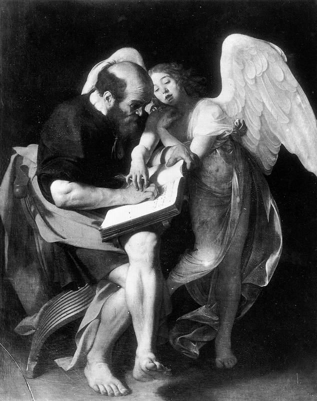 Le Caravage, Saint Matthieu et l'ange, 1602, Berlin (WGA)