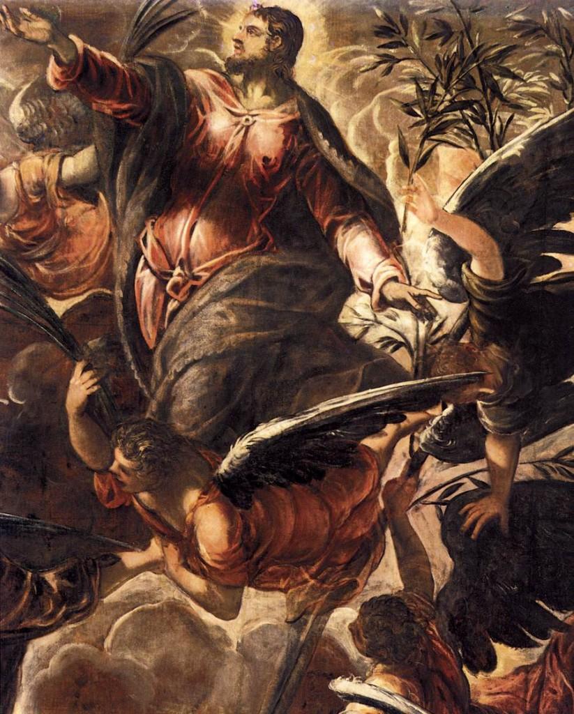 TINTORETTO Le Tintoret, L'Ascension (détail) 1579-81, Scuola Grande di San Rocco, Venice