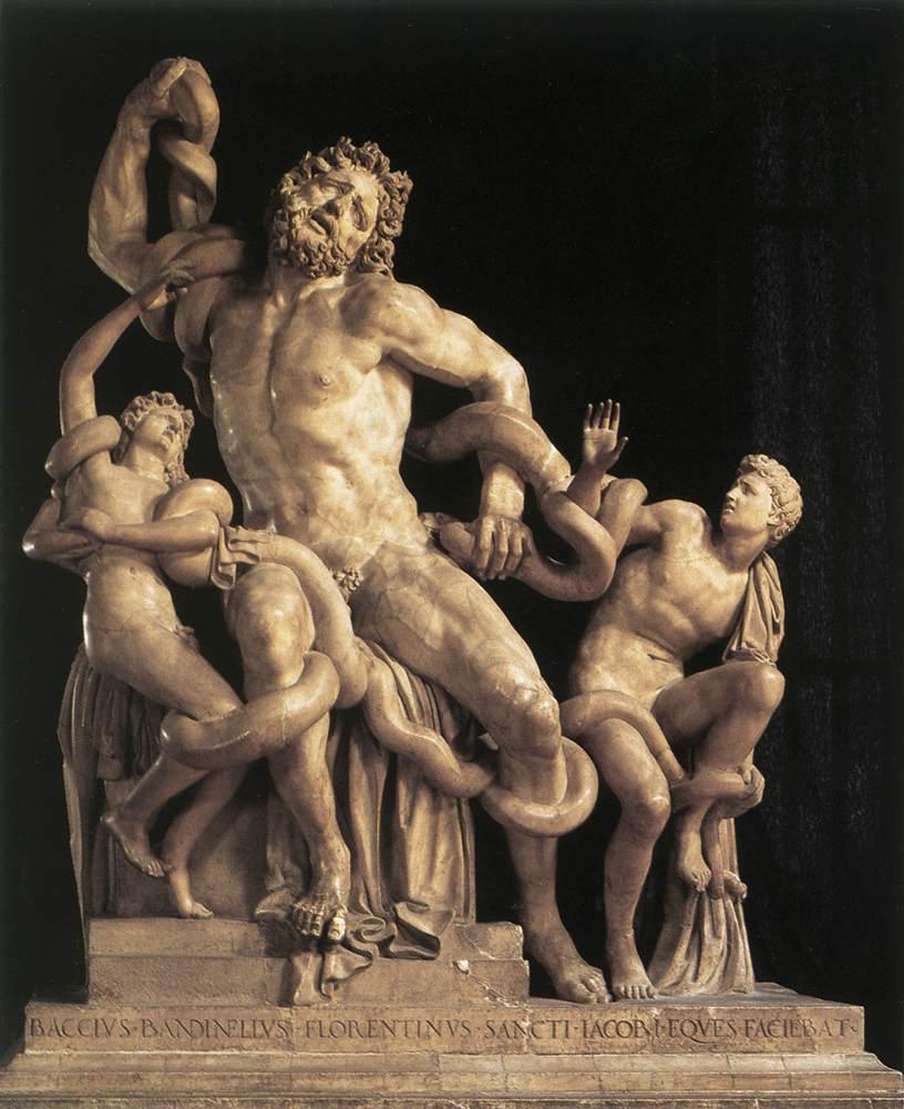 BANDINELLI, Baccio Laocoön 1525 Marble Galleria degli Uffizi, Florence (source : WGA)