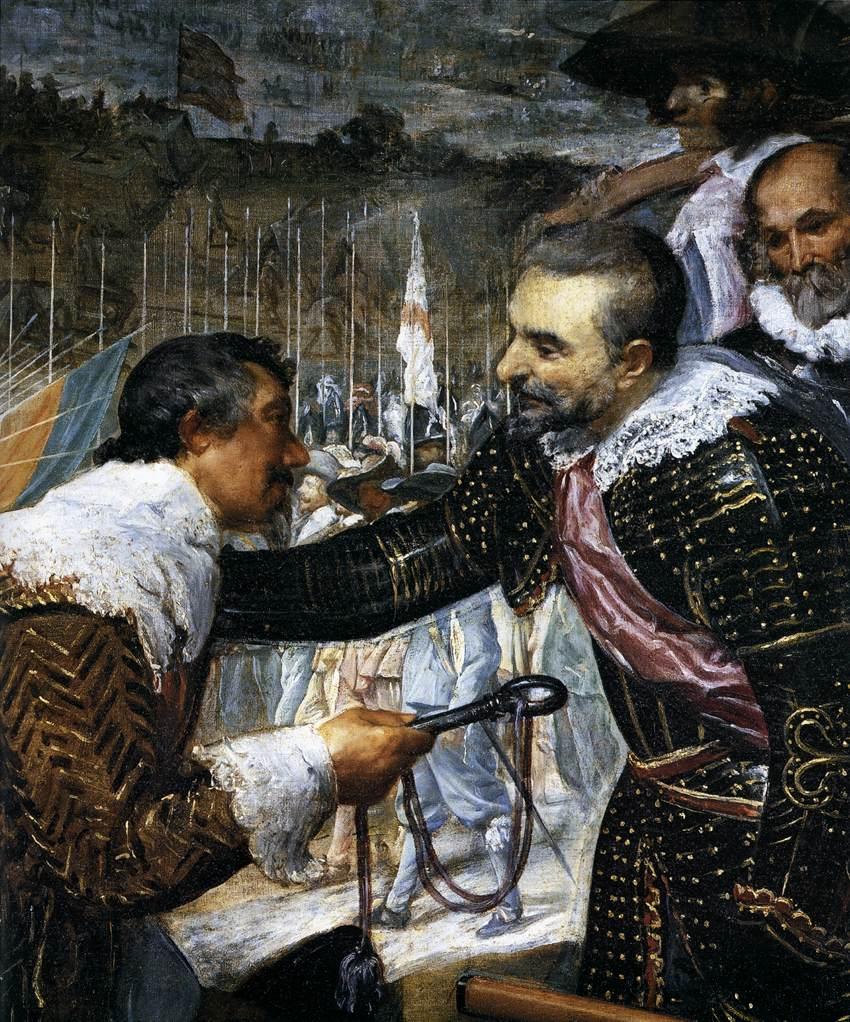 VELÁZQUEZ, Diego Rodriguez de Silva y The Surrender of Breda (detail),  Museo del Prado, Madrid (sce: WGA)