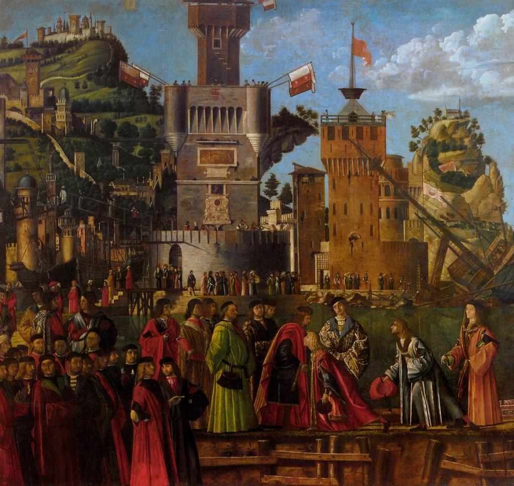 Vittore Carpaccio, Départ des pélerins, Galerie de l'Académie, Venise (WGA)