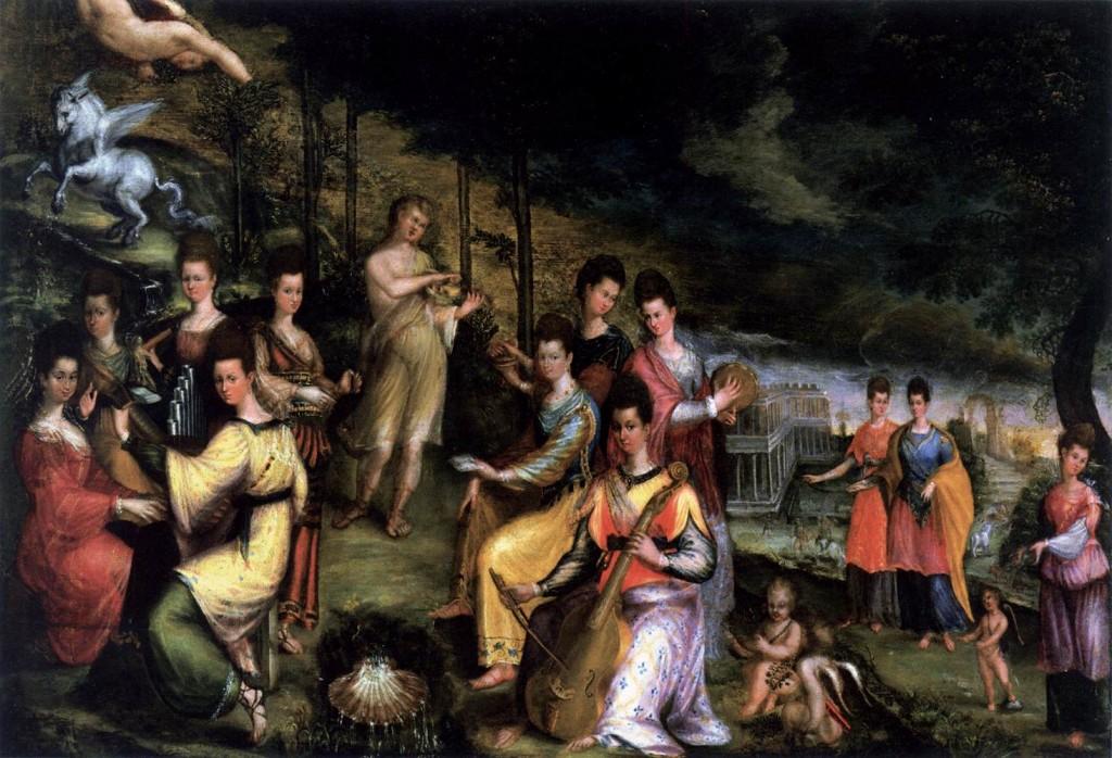 FONTANA, Lavinia Apollon et les Muses, 1598-1600, Private collection (source: WGA)