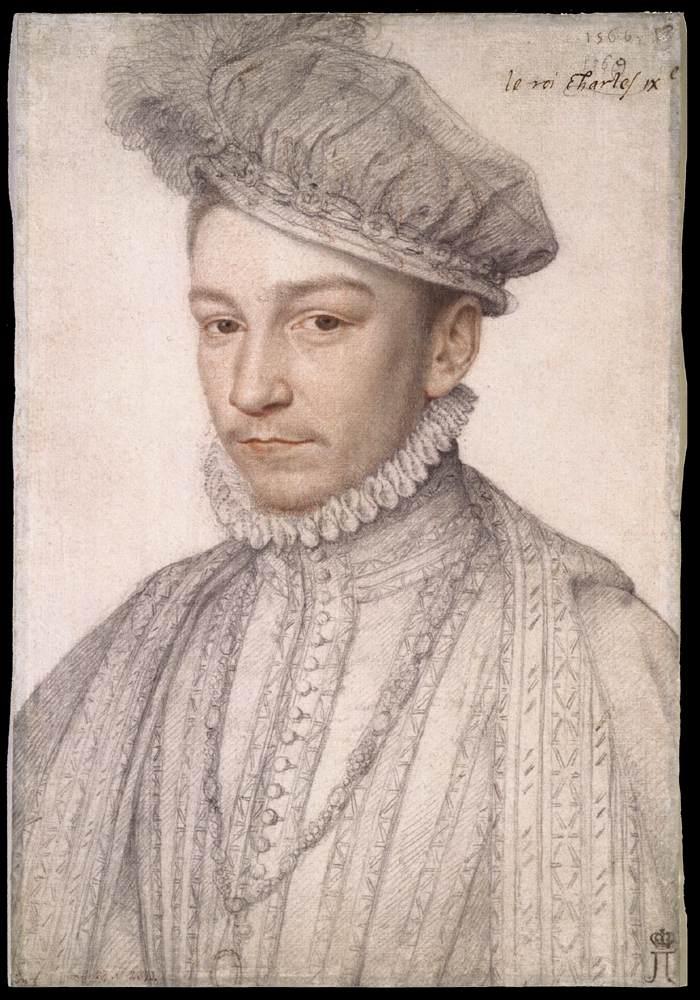 François Clouet, Portrait de Charles IX, années 1560 (WGA)