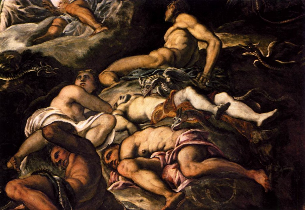 TINTORETTO The Brazen Serpent (detail) 1575-76 (WGA) Oil on canvas Scuola Grande di San Rocco, Venice