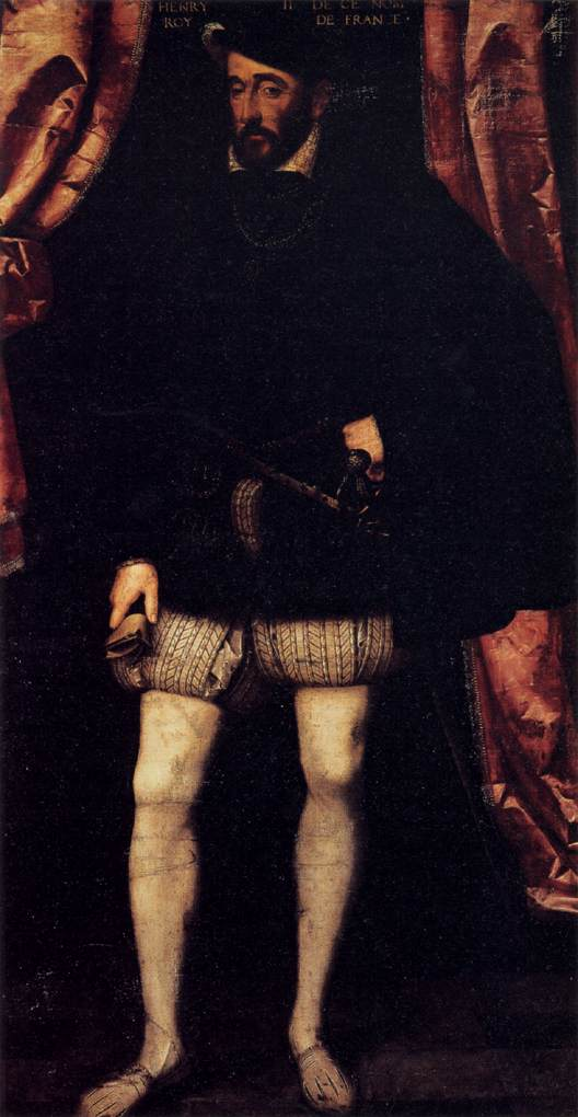 CLOUET, François Portrait of Henri II c. 1547 Oil on canvas, 192 x 105 cm Galleria Palatina (Palazzo Pitti), Florence (WGA)