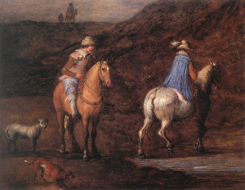 BRUEGHEL, Jan the Elder Voyageurs, (détail), s.d, Rockox House, Antwerp (source : WGA)