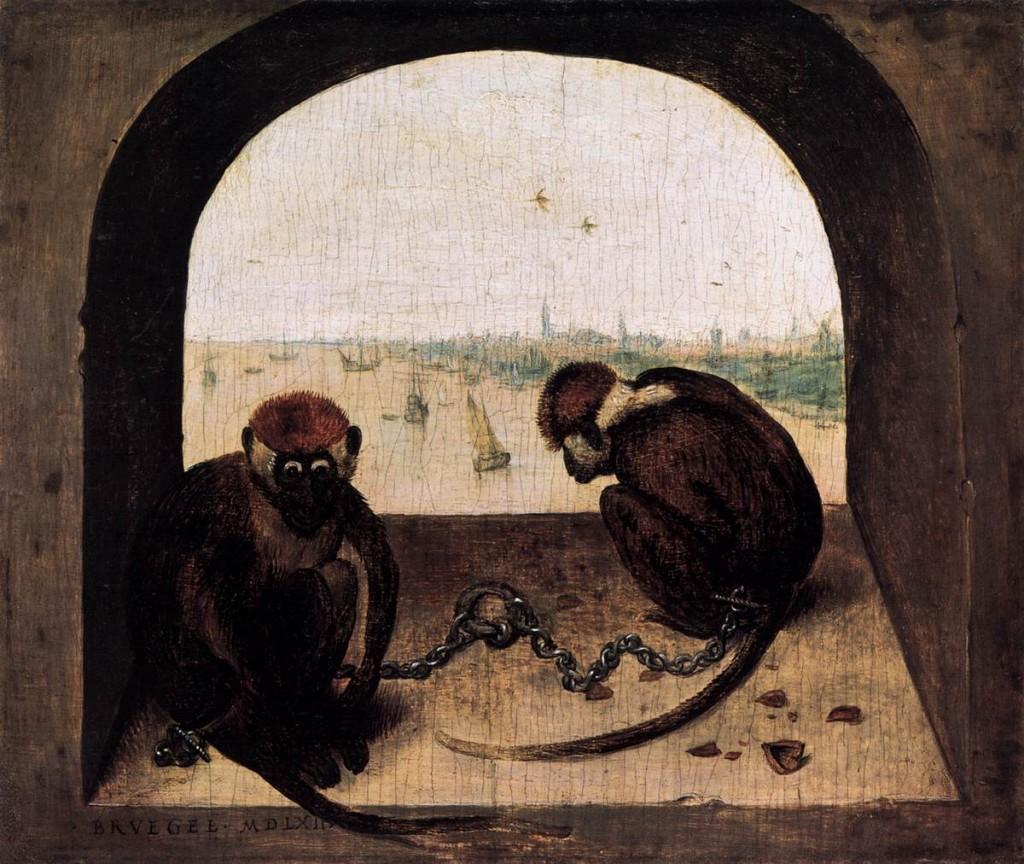 BRUEGEL, Pieter the Elder Deux singes enchaînés, 1562, Staatliche Museen, Berlin