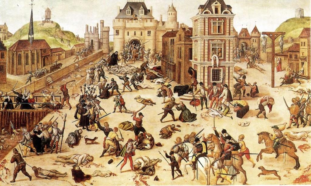 François Dubois, Le massacre de la Saint-Barthélemy (1572) Musée cantonal des Beaux-Arts, Lausanne. (source : Wikipedia)