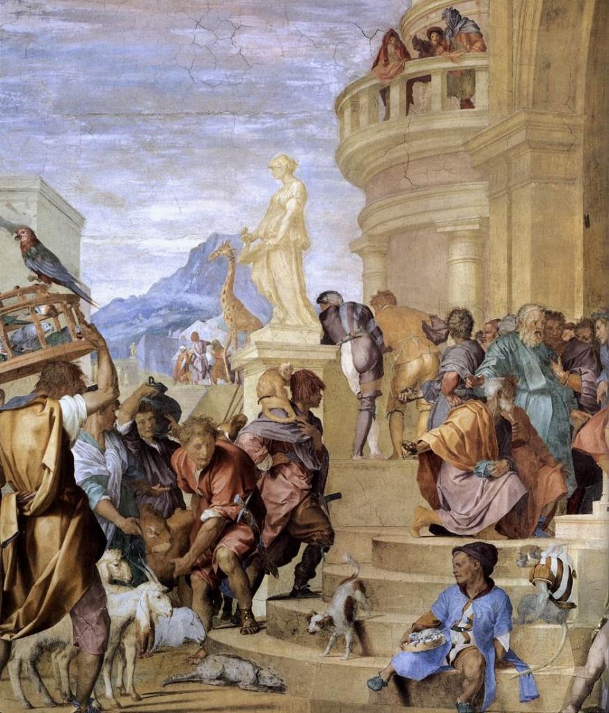 ANDREA DEL SARTO Triumph of Caesar (detail) c. 1520 Fresco Villa Medici, Poggio a Caiano (WGA)