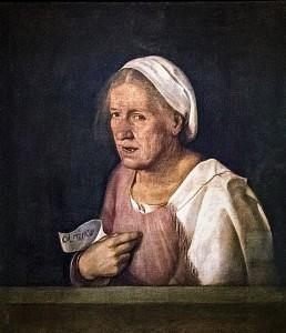 Giorgione, Col tempo (La Vieille), 1506  (sourcce : wikipédia)