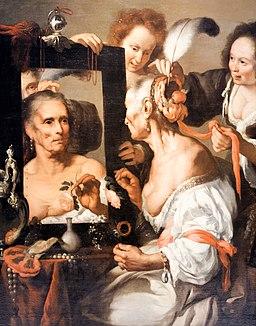 Bernado Strozzi, La vieille coquette, 1620 (source : wikipédia)