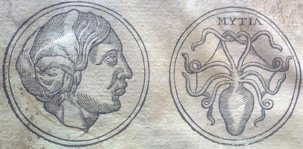 Sappho. Gravure issue des Carmina novem illustrium feminarum [...] de Fulvio Orsini (1568, chez Plantin) (source : A. Debrosse)