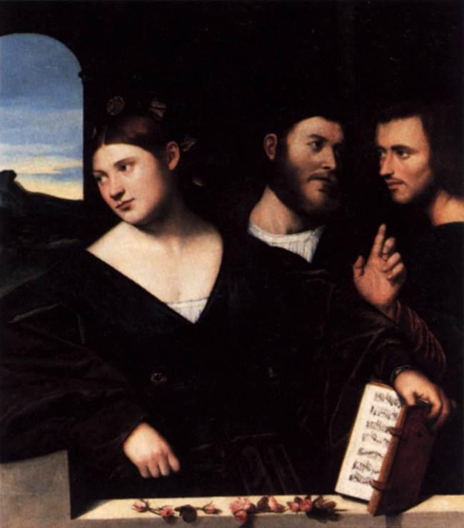 Bernardino LICINIO L'amour : allégorie c. 1520 Huile sur toile, Collection privée (Source : WGA)