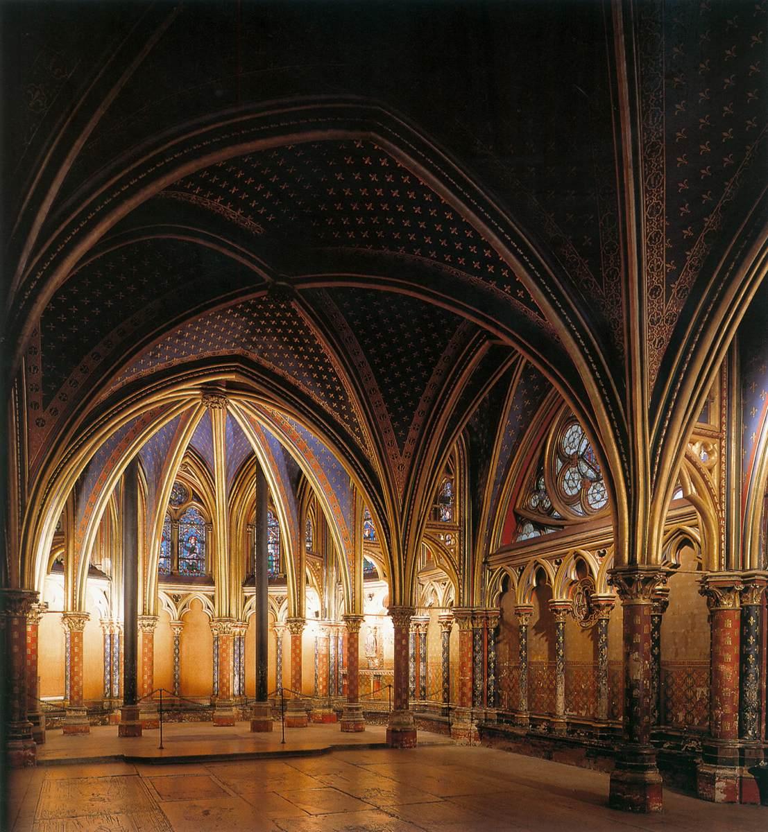 Intérieur de la Sainte-Chapelle de Paris (source : WGA).