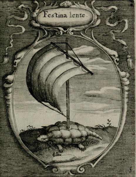 Detail from Georg Rem's Inscriptiones picturae et emblemata quae in aula magna curiae Norimbergensis publice extant, 1620. VAULT Wing MS 279