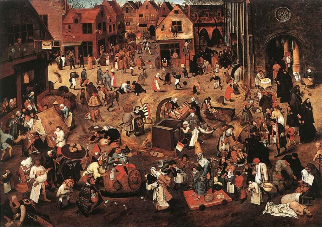 BRUEGHEL, Pieter, Le combat entre Carnaval et Carême, Musées Royaux des Beaux-Arts, Brussels