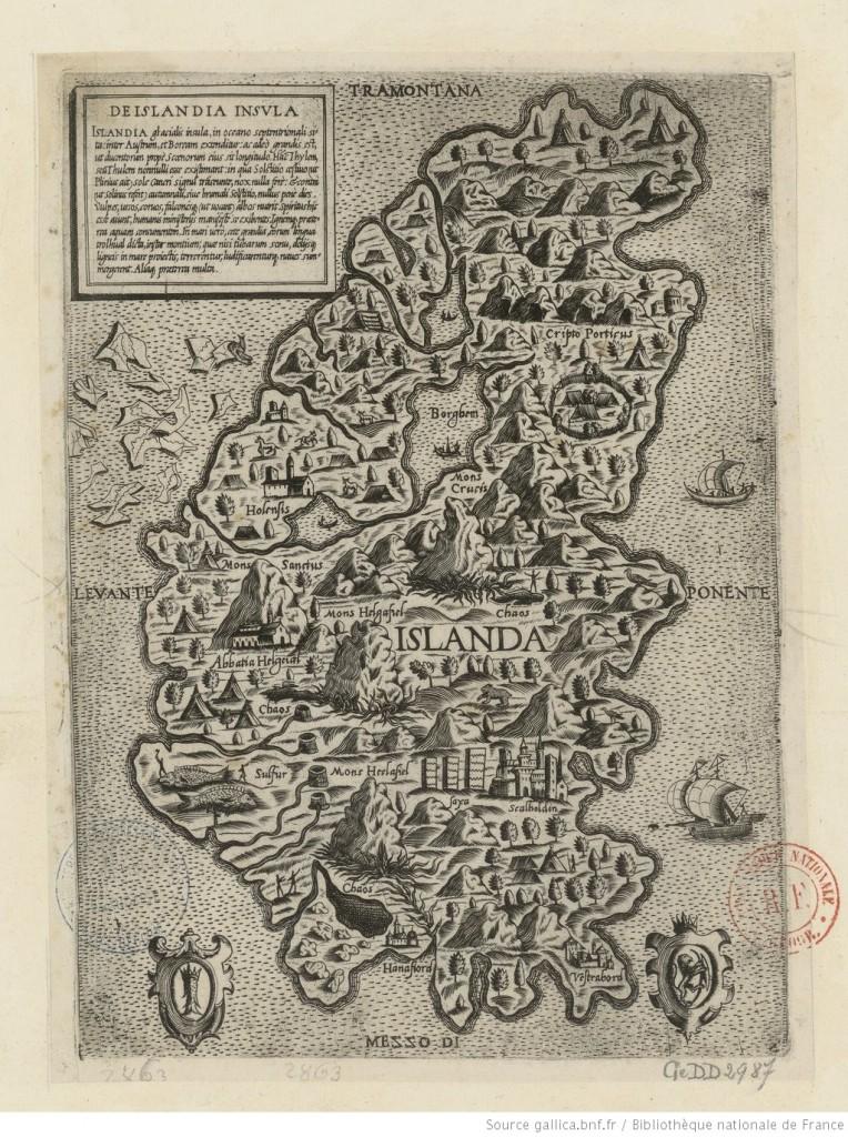 De Islandia Insula  [Lafreri] (Roma) - 1540 (Source : Gallica)