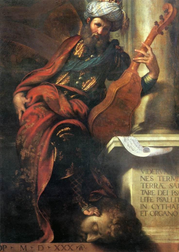 """Camillo BOCCACCINO, """"Le prophète David"""", (1530-1532), Piacenza, Palazzo Farnese (source : WGA)."""