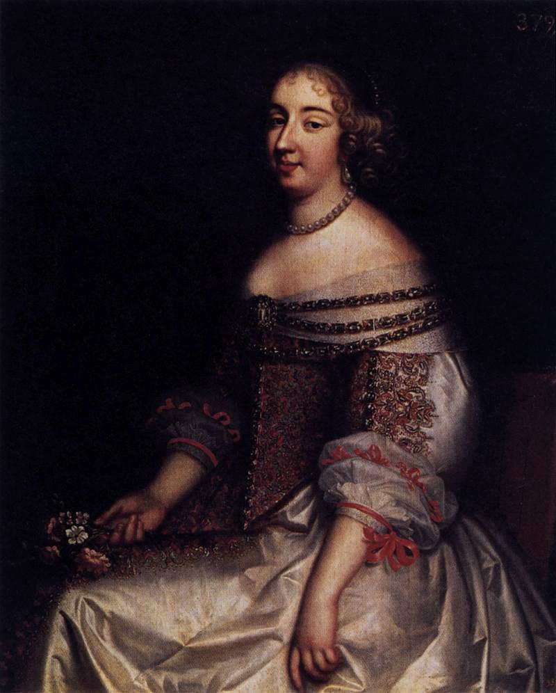 "Charles Beaubrun, ""Portrait de Mademoiselle de Montpensier"" (1655), Madrid, Museo del Prado (source : WGA)."