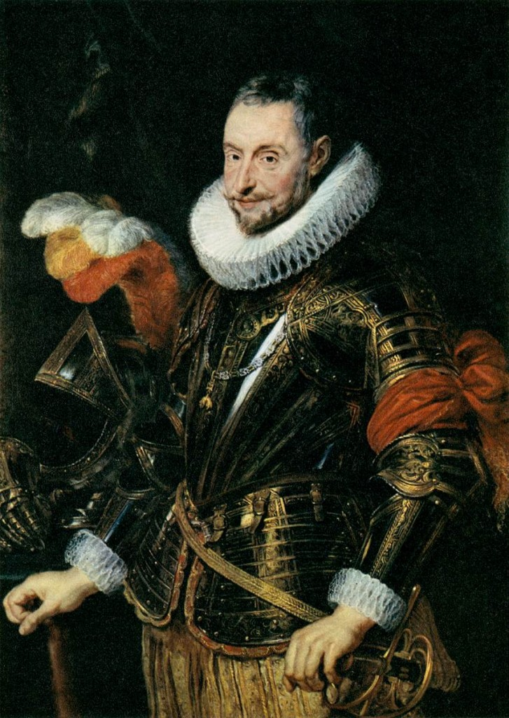 RUBENS, Peter Paul Portrait of Ambrogio Spinola 1625-28 Oil on oak, 117 x 85 cm Národní Galerie, Prague (source : WGA)