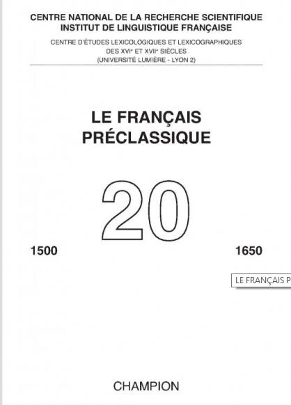 Français pré classique