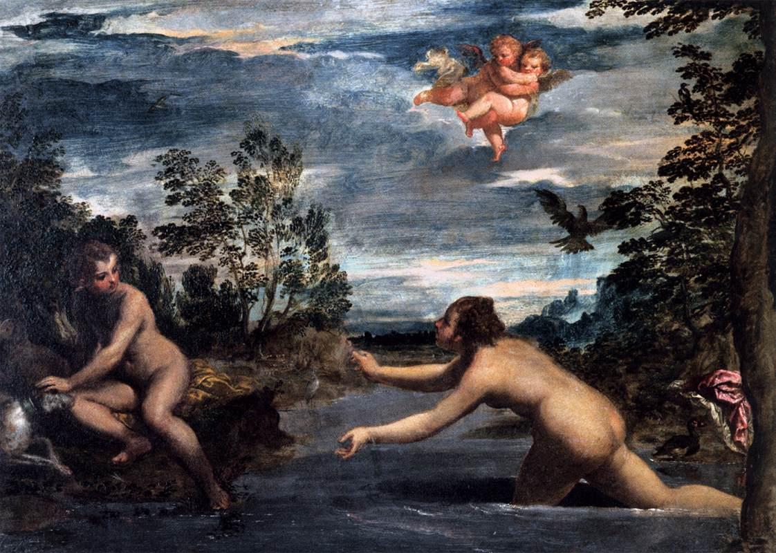 "Scarsellino, ""Salmacis et Hermaphrodite"" (vers 1585), Rome, Galleria Borghèse (source : WGA)."