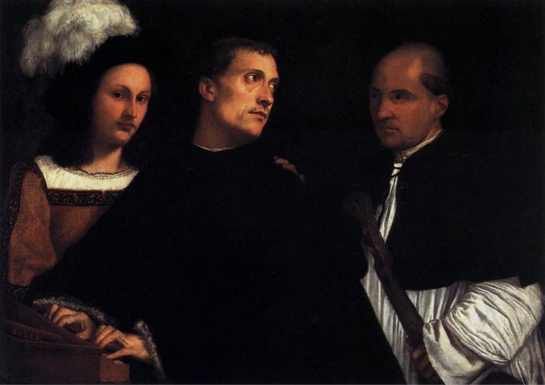 """Vecellio Tiziano, """"Le concert"""", c. 1510, Galleria Palatina (Palazzo Pitti), Florence (source : WGA)."""