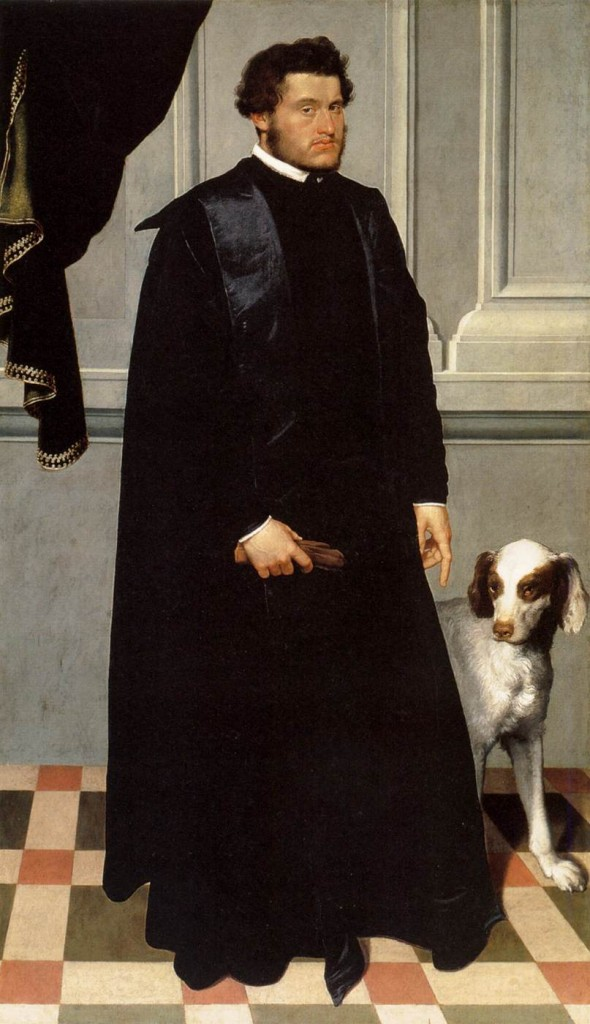 MORONI, Giovanni Battista Gian Lodovico Madruzzo 1551-52 Oil on canvas, 202 x 117 cm Art Institute, Chicago (source : WGA)