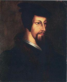 Portrait de Jean Calvin, jeune. anonyme, école flamande, XVIe siècle.