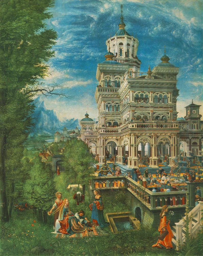 ALTDORFER, Albrecht Suzanne au bain, 1526 Wood, 74,8 x 61,2 cm Alte Pinakothek, Munich (Source WGA)