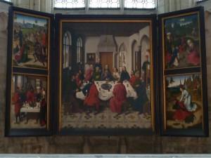 Dieric Bouts, Retable du Saint-Sacrement, 1465-1468, église saint-Pierre, Louvain (photo de Valentine Langlais)