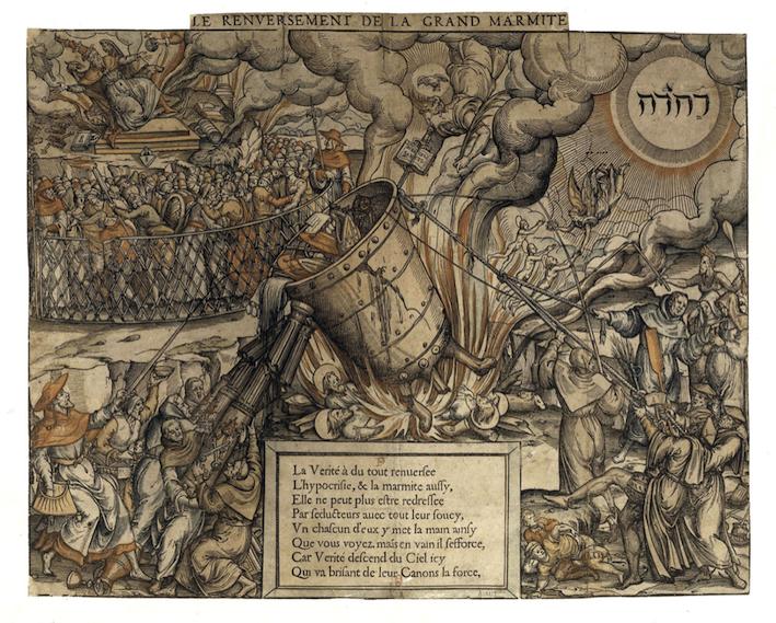Le renversement de la grande marmite, Paris, BNF, Estampes, Qb1 (1585)