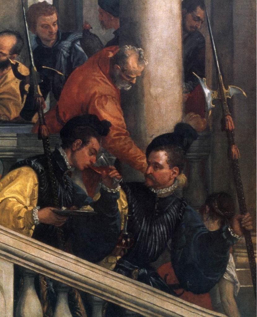 Véronèse, Fête dans la maison de Lévi (détail), 1573, huile sur toile, Gallerie dell'Academia, Venise (WGA)