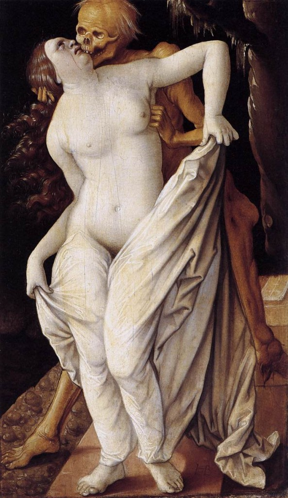 Hans BALDUNG GRIEN, Death and the maiden, 1518-1520, Öffentliche Kunstsammlung, Basel (WGA)