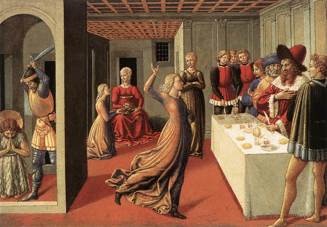 "Benozzo GOZZOLI, ""La danse de Salomé"" (1461-1462), National Gallery of Art, Washington (source : WGA)."