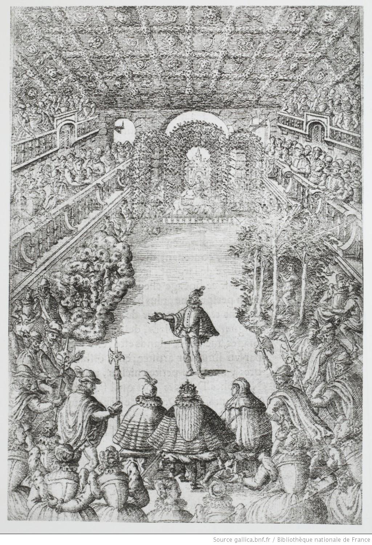 """""""Figure de la salle"""", Ballet Comique de la Reine (source : gallica)."""