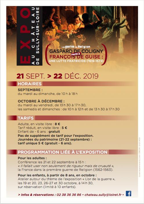 Programme Château de Sully