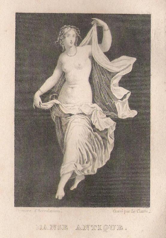 Le Comte, Danse Antique, 1823 - Frontispice à l'Essai sur la Danse d'Élise Voïart (source : wikipédia)