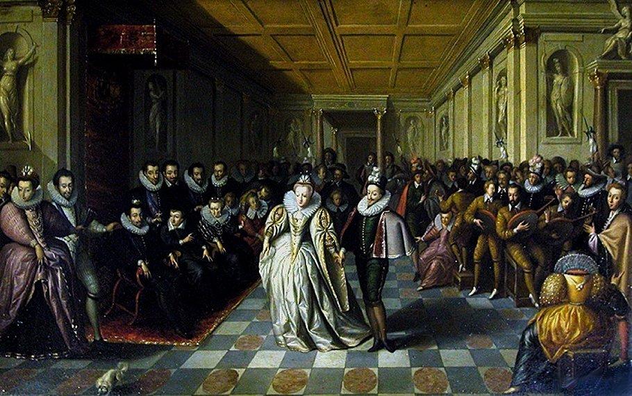Hieronymus Francken I, Bal pour le mariage du Duc de Joyeuse, 1581 (source : wikipédia)