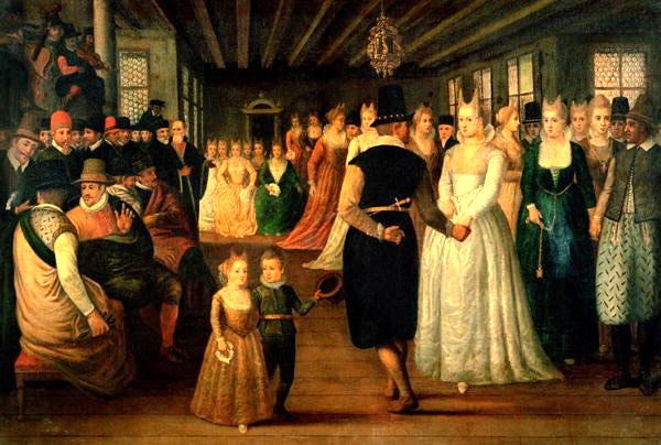 Scène de bal, école vénitienne, 1580