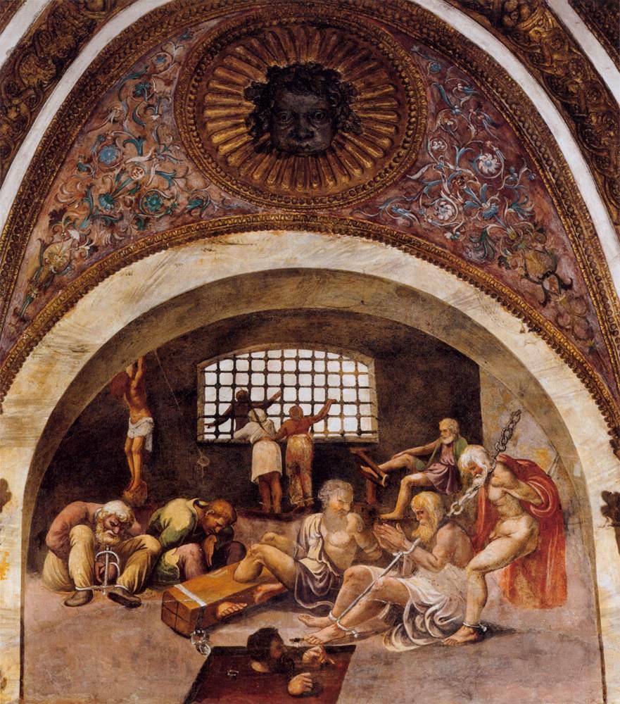Les Prisonniers, fresque (1527 - 1528), Mantoue (WGA)