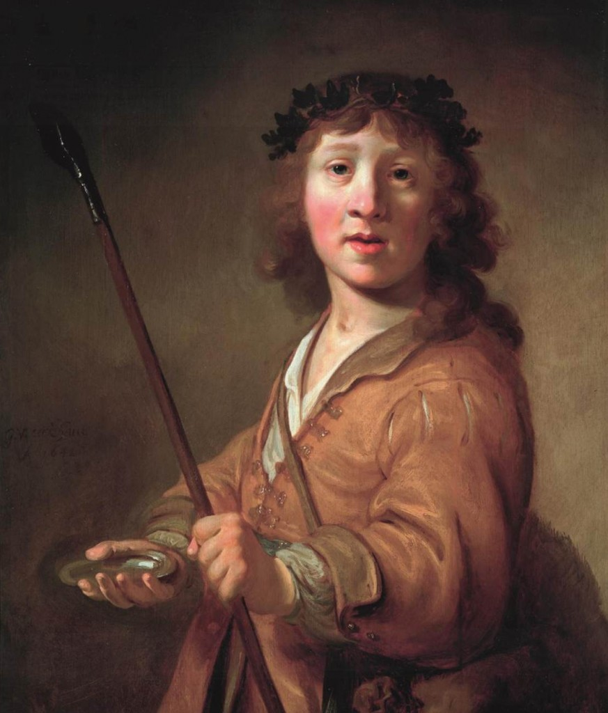 EECKHOUT, Gerbrand van den Portrait of a Boy as Daifilo 1642 Oil on panel, 61 x 51 cm Private collection (source : WGA)