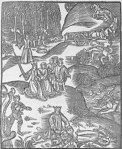 Illustration de Sénèque, Decem tragediae, Paris, Joannis Mercatoris, 1511, source : Gallica, BNF